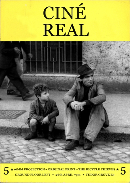 CINE REAL THE BICYCLE THIEVES